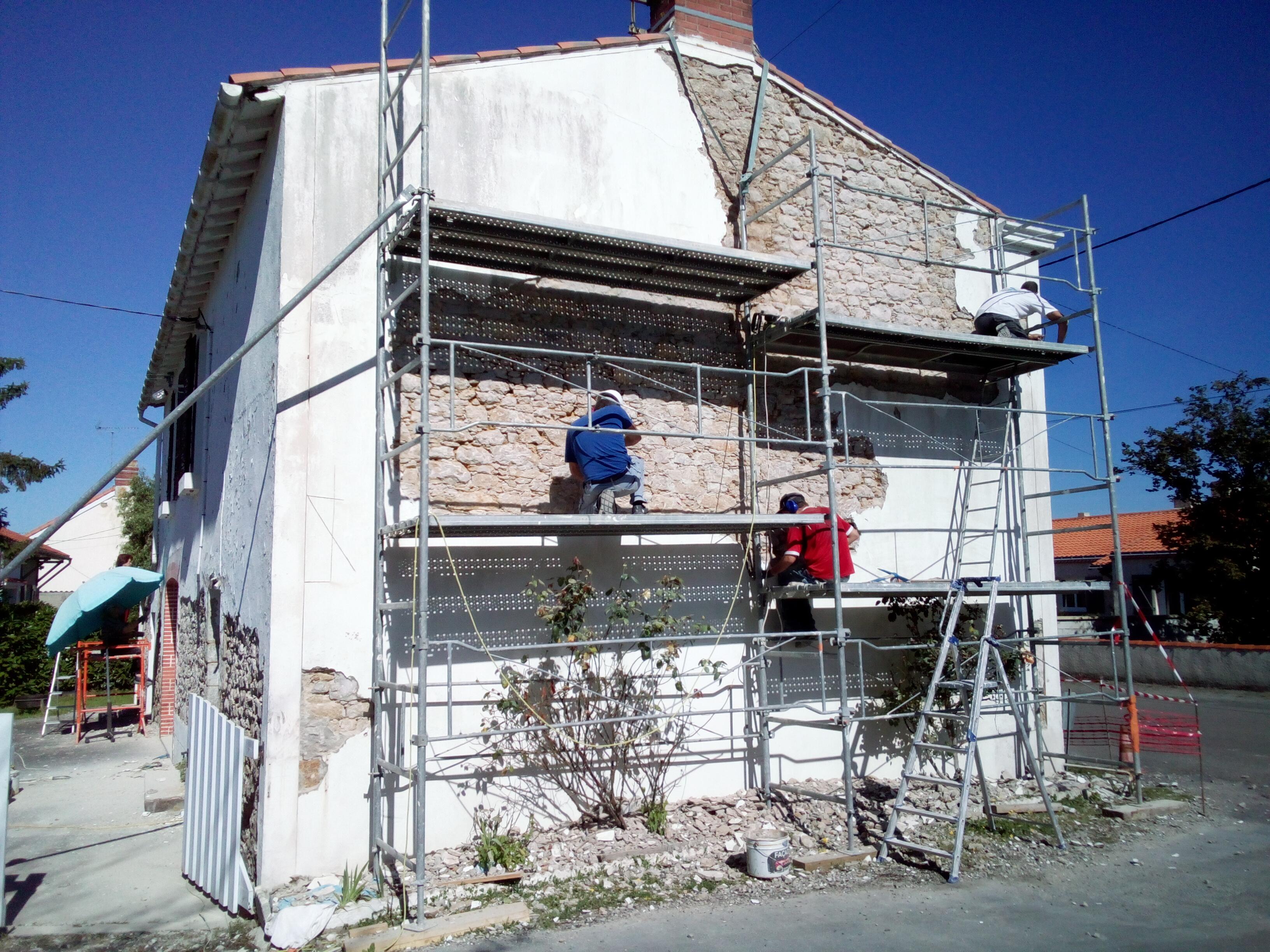 Piquetage mur